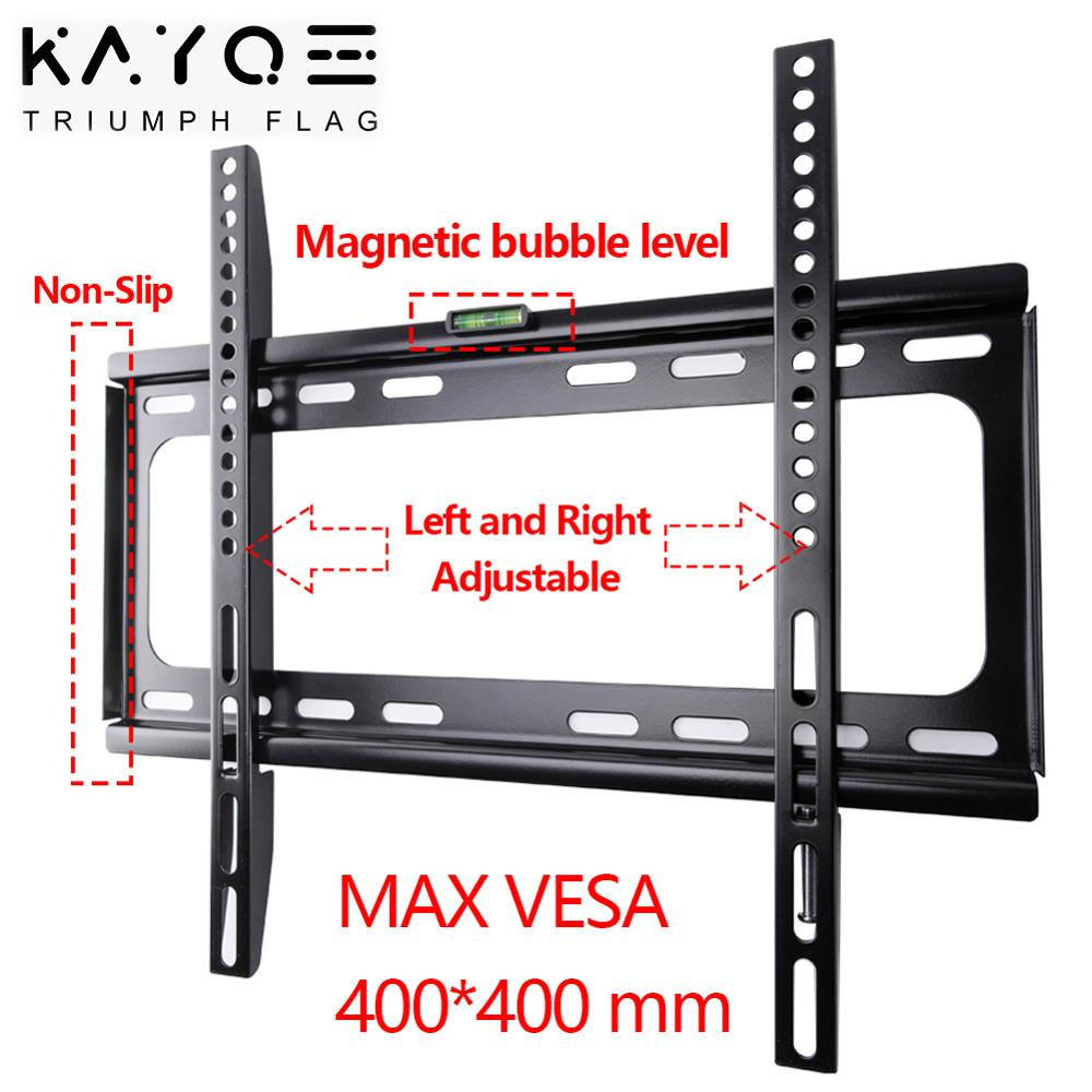 KAYQEE Fixed TV Mount Wall for 32-55 Inch LED LCD and Plasma Bracket TV Wall Mount Up To VESA 400x400mm and Loading 110lbs