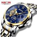 HAIQIN  автоматические мужские часы  Лидирующий бренд  роскошные механические часы  мужские водонепроницаемые деловые наручные часы  турбийон...