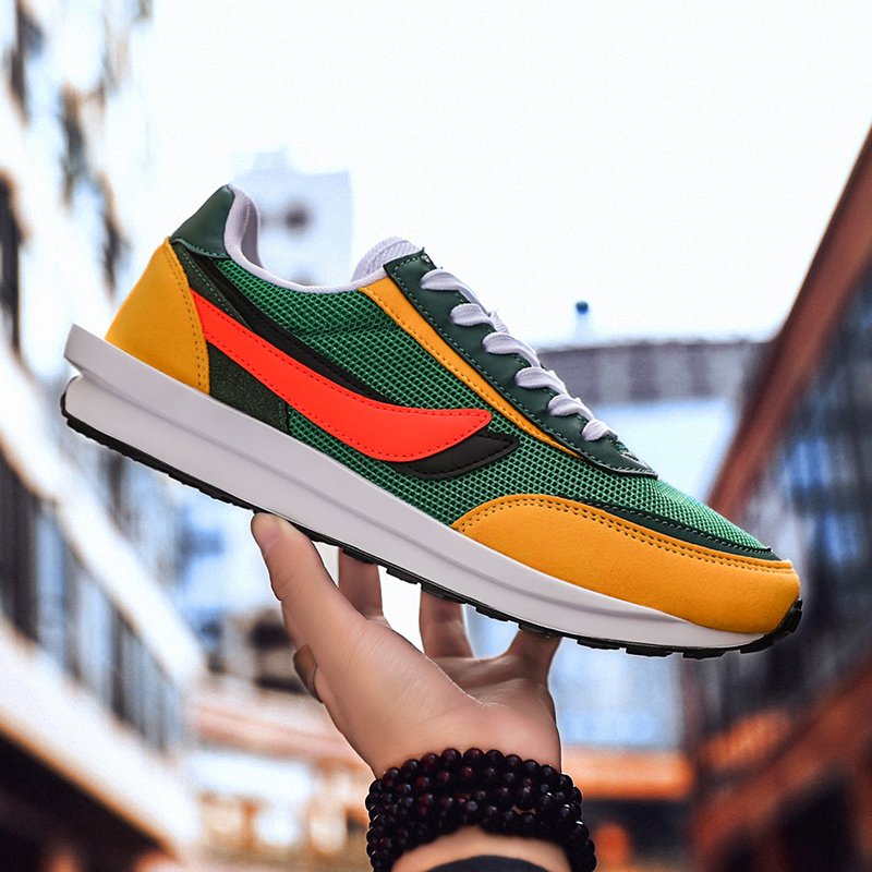 Designer LDWAFFLE/SACAI Off Sneaker Men Women Sneaker Luxury Running Shoes Road Star Joggers Color Orange White