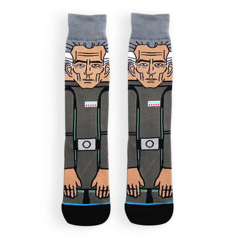 ตลกถุงน่องการ์ตูนพิมพ์ฝ้ายถุงเท้าผู้ใหญ่ผู้ชายผู้หญิง Jedi ORDER Master Yoda คอสเพลย์ยาว Star War ถุงเท้า 1 คู่ฤดูหนาว