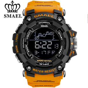 SMAEL Mens Watch Military Waterproof Sport Wrist Watch Digital Stopwatches For Men 1802 Military Watches Male Relogio Masculino(China)