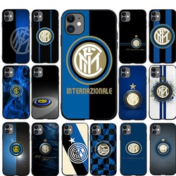 Inter Milan club Phone Case TPU for iPhone 12 Mini 11 12 Pro max SE 2020 X XR XS Max 7 8 6 6s Plus 5 5s Cover