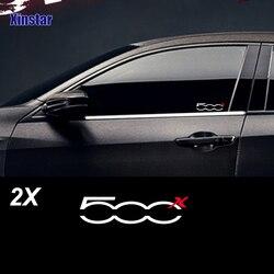 2pcs/lot car body sticker for fiat 500x