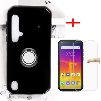 Перейти на Алиэкспресс и купить Для Blackview BV9900 Pro Чехол для телефона с держателем на заднем кольце чехол для телефона TPU мягкие чехлы для Blackview BV9900 закаленное стекло