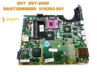 Original for HP DV7 laptop motherboard  DV7  DV7 2000  DAUT3DMB8D0  516293 001 tested good free shipping|Laptop Motherboard|   -