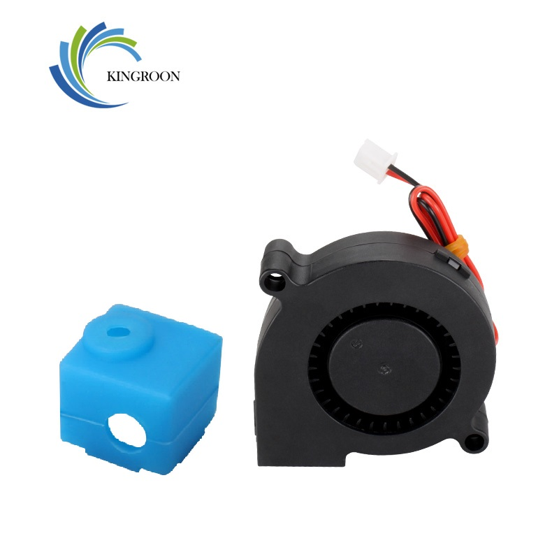 KingRoon 24V 5015 Fan air-blower For 3D Printer Fan KP3 Exclusive e3d V5 Blue Silicon Sock Cover 3D Printer Parts 16*16*12mm(China)