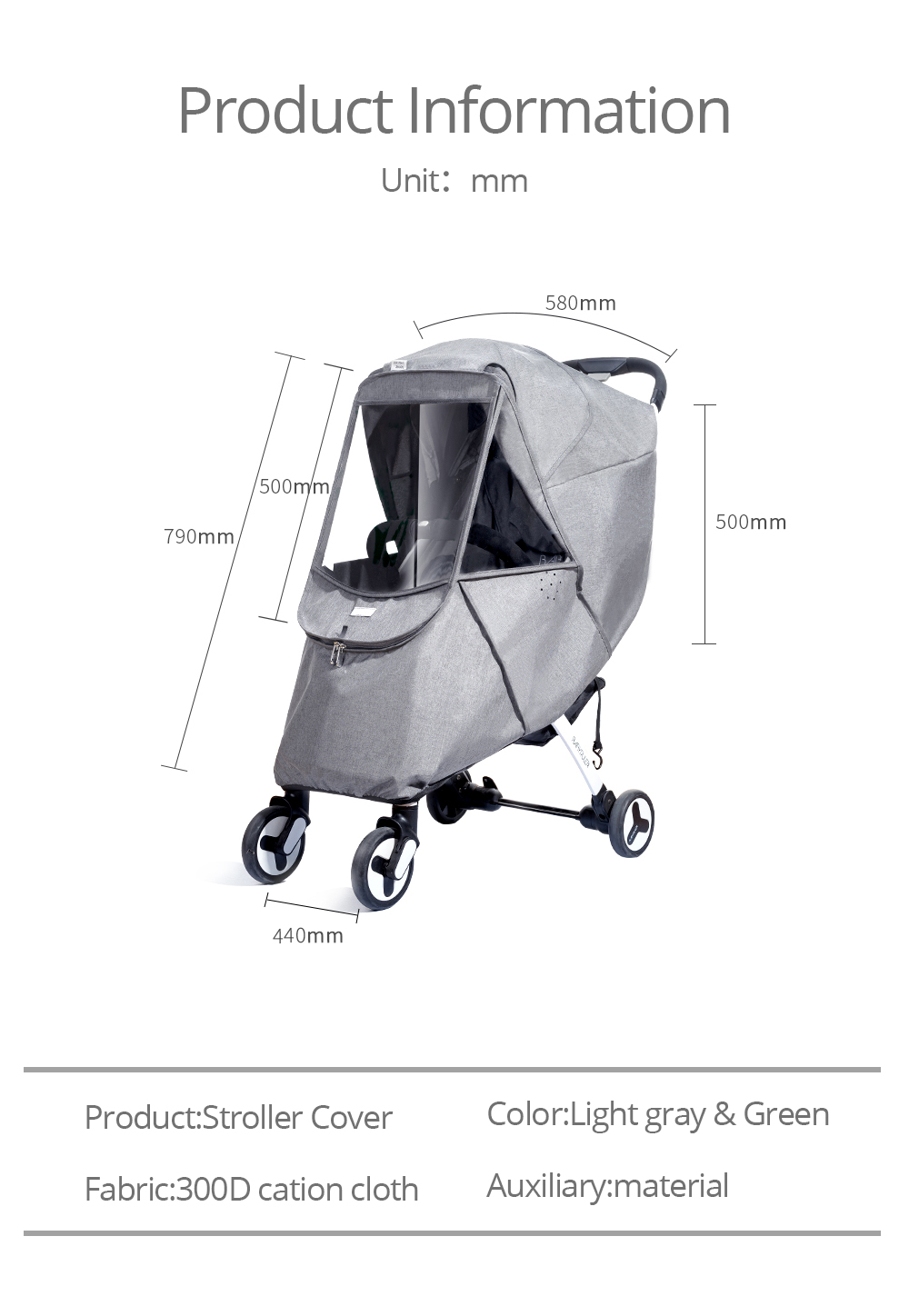 HELLOO HOME Weather Shield For Double Stroller Universal Rain Cover For Pushchair Stroller Buggy Baby Travel Weather Shield Pushchair Pram Stroller Rain Cover Pram Accesseries