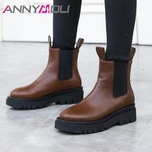 Annymoli/ботинки «Челси»; Женские ботильоны на высоком каблуке;
