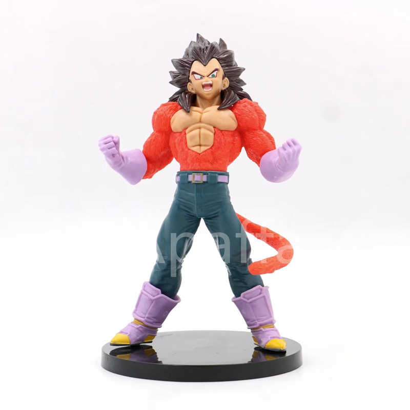 20cm 2019 Anime Dragon Ball GT 4 IV Super Saiyan Vegeta Action Figure Toys Boneca Presente de Natal Estatueta Especial edição
