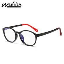 Круглый синий светильник, блокирующие очки, детские очки, гибкие очки, детская оптическая оправа, для девочек и мальчиков, цифровой, деформационный, игровой, UV400