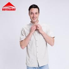 ROYALWAY спортивные мужские летние быстросохнущие рубашки для кемпинга, туризма, рыбалки, военные функциональные рубашки с коротким рукавом RIM7073BS