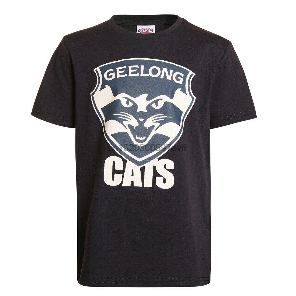 Geelong Cats AFL Youth Kids Logo T Shirt Sizes 2-14! BNWTs!(China)