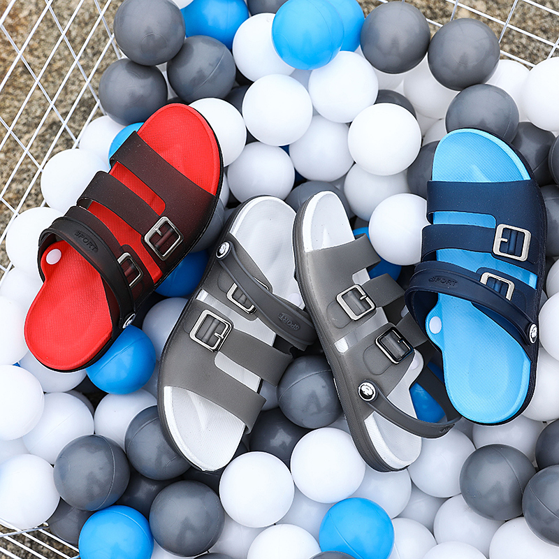 Image 3 - Summer Mens Slippers Sandals Casual Shoes Breathable Beach Sandals Men Outdoor Comfortable Fashion Slippers Sports Rubber ShoesMens Sandals   -