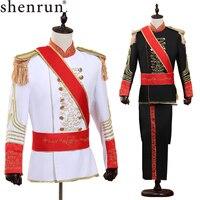 Мужской костюм Shenrun, черная/белая армейская форма
