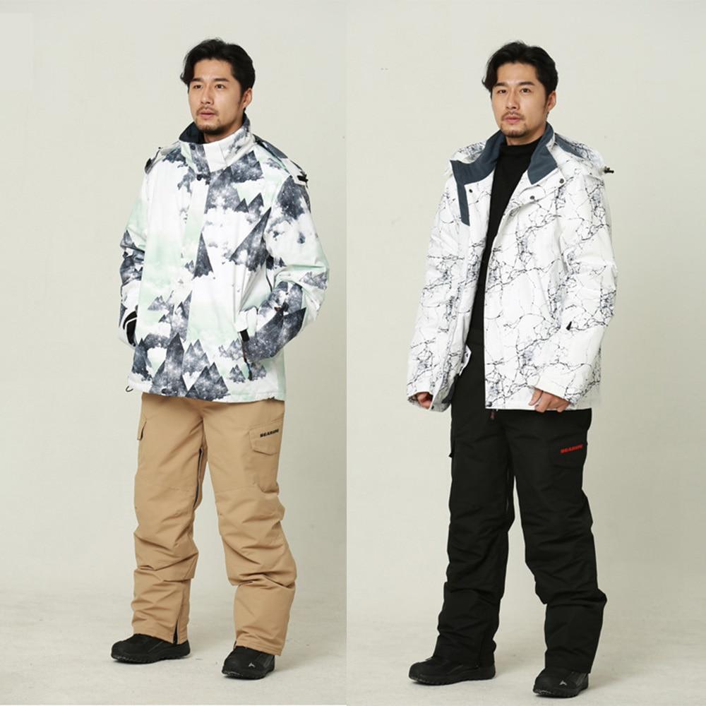 Thicken Warm Ski Suit Men High Quality Winter Windproof Waterproof Skiing Snowboard Jacket And Pants Set Male Trekking Camp Coat