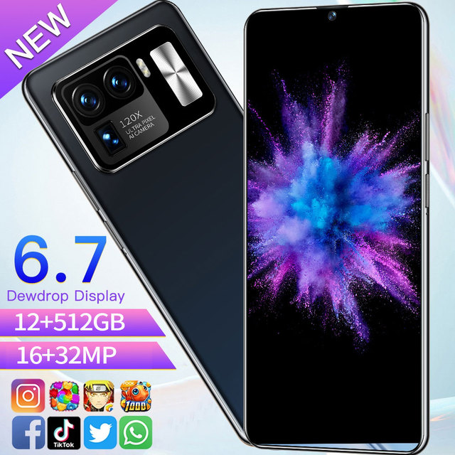 New Arrival 6.7'' Full Screen Phone Mi11 Ultra Global Version Unlocked Smartphone Face Unlock 512GB 10 Core Android 5G Cellphone 2
