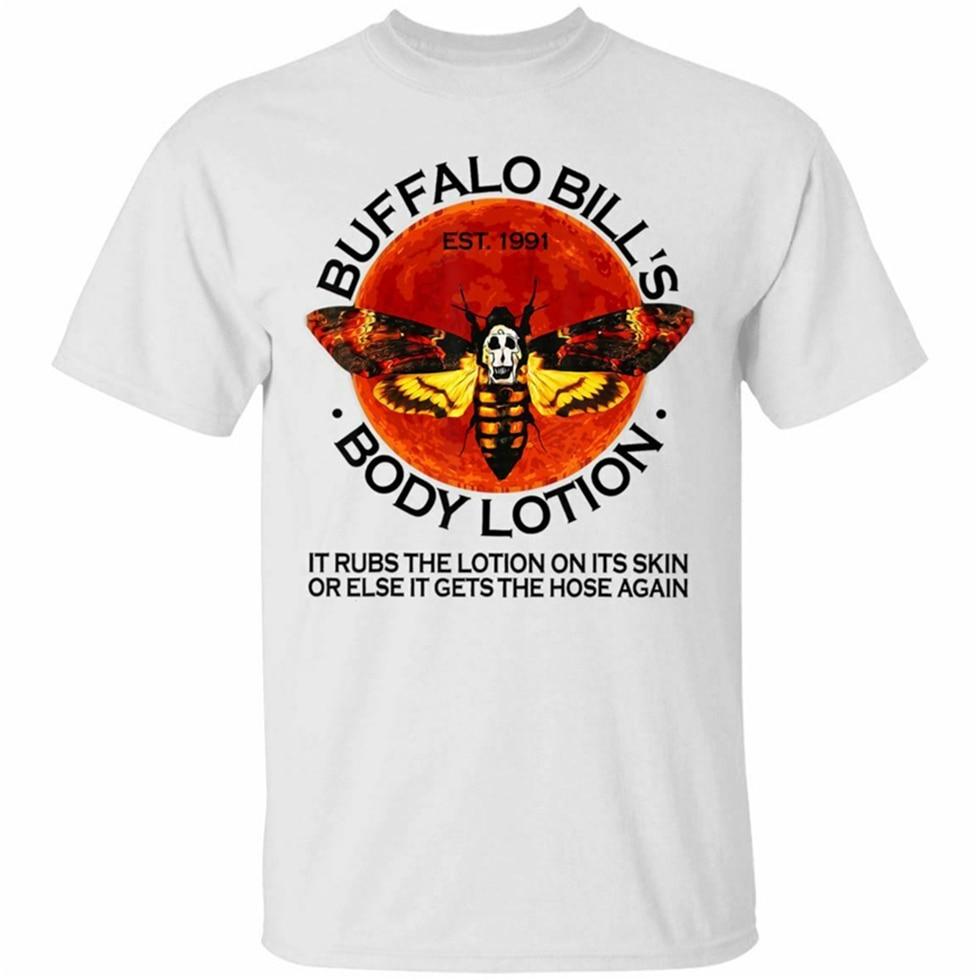 Buffalo Bill Body Lotion Short Sleeve White T-Shirt Size S-3Xl Summer O-Neck Tops Tee Shirt
