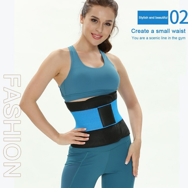 Breathable Tummy Slim Belt Waist Back Support Waist Trainer Trimmer Belt Sweat Utility Belt for Sport Gym Fitness Weightlifting 5
