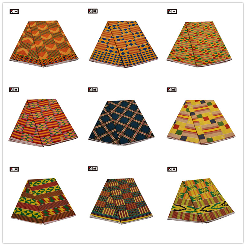 Apparel Print 6 Yards African Kente  Print Wax Ankara African Print Fabric