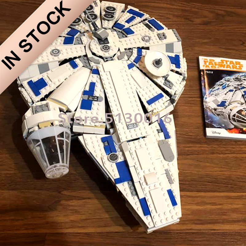 In stock 05142 Star Series Wars Force Awakens Millennium 75212 Building Blocks 1482pcs Space ship Toys 05007 image
