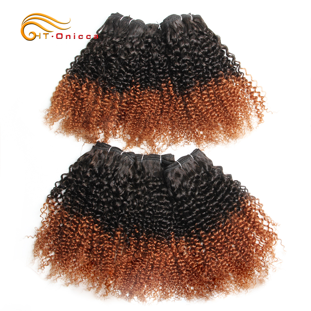 6Pcs/Lot  Curly Bundles Jerry Curl Double Drawn   Funmi Hair T1B 30 99J Colored Hair  Htonicca 3