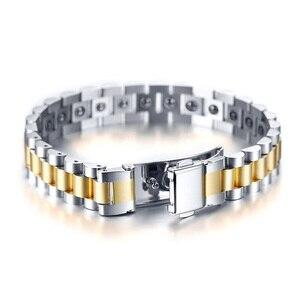 Image 2 - Firmy zegarków opieki zdrowotnej hematytu energii moc mężczyzna dorywczo biżuteria Hombre mężczyzn ze stali nierdzewnej bransoletka