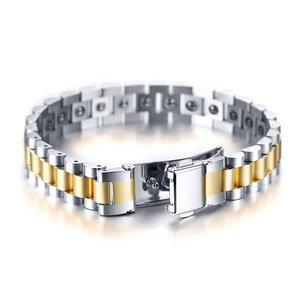 Image 2 - Watch Brands Health Care Hematite Energy Power Male Casual Jewelry Hombre Stainless Steel Men Bracelet