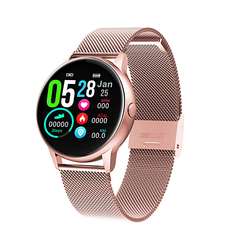 ESEED DT88 smart watch women ip68 waterproof 1.22 inch screen Heart rate blood pressure for android ios samsung huawei watch