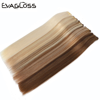 EVAGLOSS Cuticle Aligned Russian/European Natural Real Remy Human Hair Weft Weavon Hair Extensions 100g