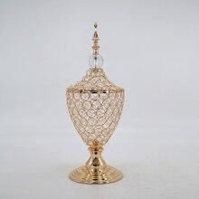 Романтическая французская Хрустальная банка для сухофруктов, украшение для столовой, украшения для дома с крышкой, емкость для хранения конфет, Европейский подарок