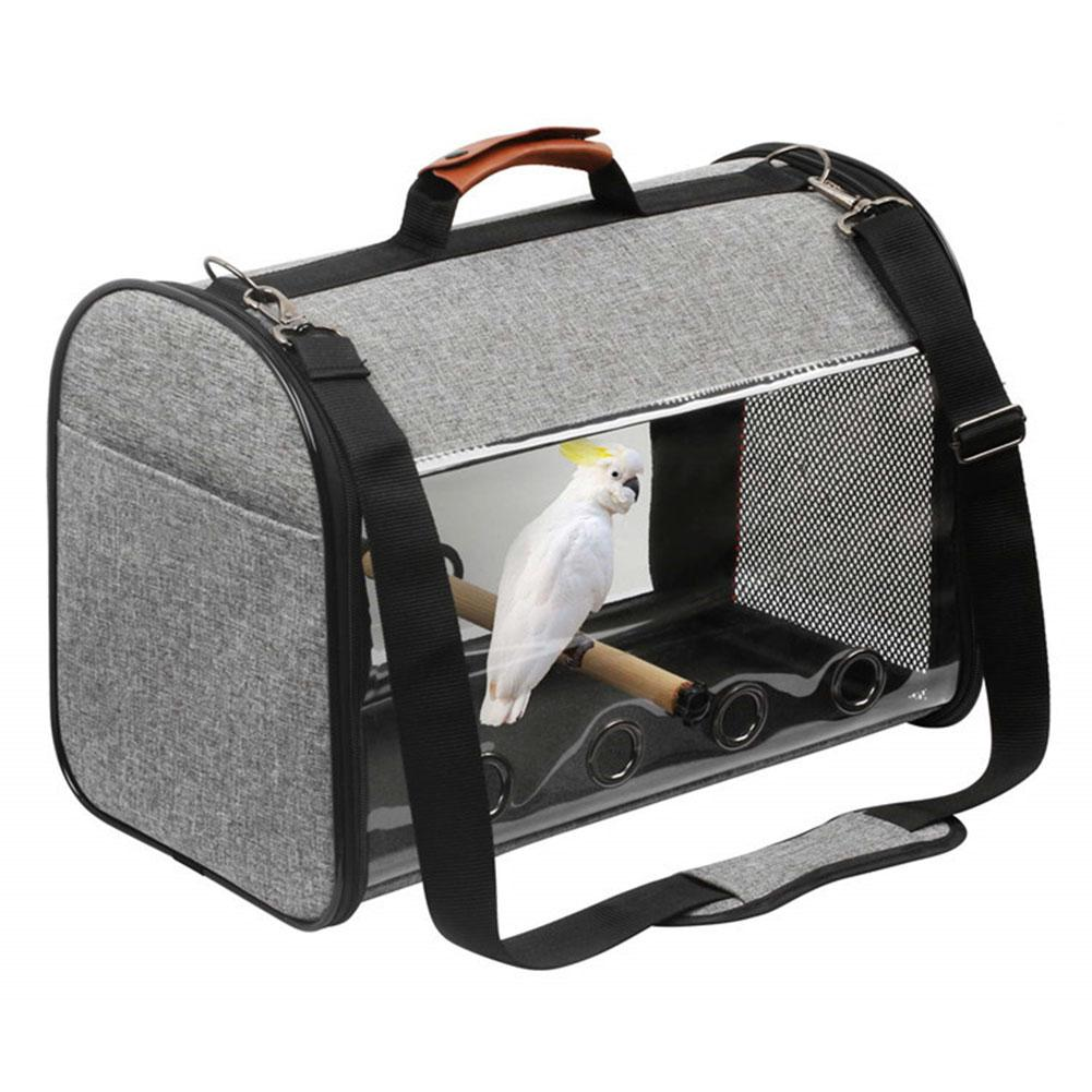 Pet Parrot Backpack Carrying Cage Cat Dog Outdoor Travel Breathable Carrier Bird Canary Transport Bag Birds Supplies