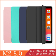 smart protective leather cover case for huawei mediapad m2 m2 801w m2 803l huawei m2 8 0 tablet case screen protector Funda For Huawei MediaPad M2 8.0 M2-801W M2-803L M2-802L M2-801L WI-FI LTE Leather Flip Cover Tablet Case Kickstand Folio Capa