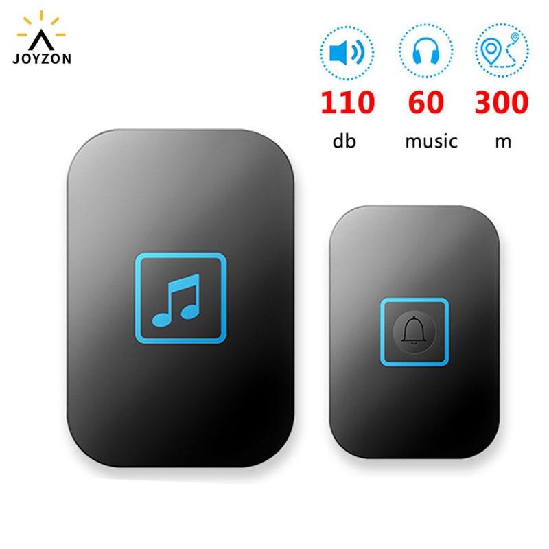 60 Chime 110DB Wireless Doorbell Waterproof 300M Remote EU AU UK US Plug Home Door Bell Battery 1 2 3 Button 1 2 Receiver
