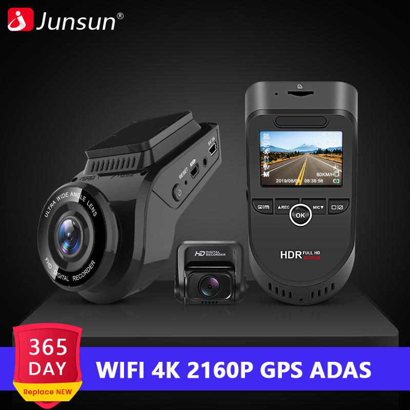 Junsun Dvr Sensor Dashcam 2160P Rear-Camera Car 60fps ADAS Wifi S590.P Night-Vision Sony