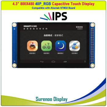 4.3 inch 800*480 IPS / 480*272 40P_RGB TFT Capacitive Touch LCD Module Display Screen Panel Compatible Alientek STM32 Board