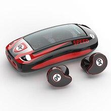 TWS słuchawki Bluetooth V5.0 słuchawki bezprzewodowe IPX5 wodoodporne sportowe słuchawki douszne z redukcją szumów 6D dla smartfona
