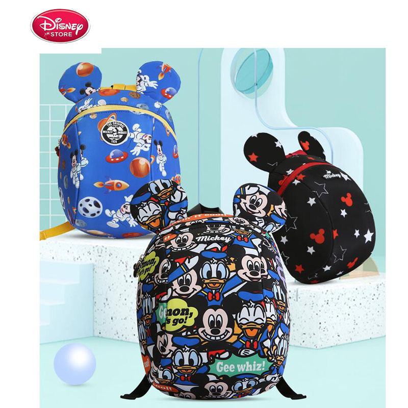 Disney Anti-lost Backpack Harnesses Leash Baby Care Walking Backpack Belts Annes Mickey Toddler Kids Girl Children 1.2M Cartoon