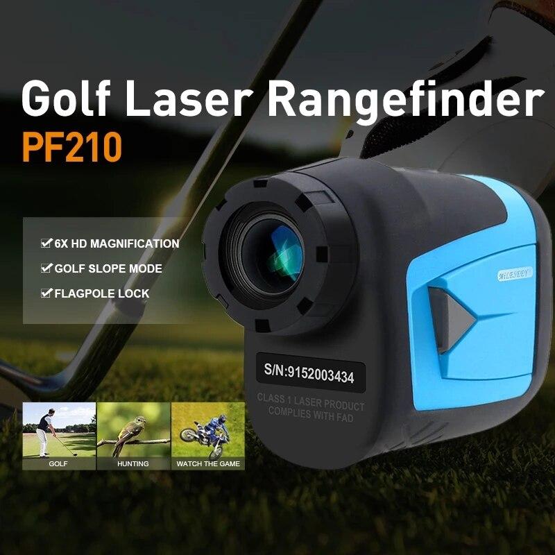 Tools : Mileseey PF210 600M Golf Laser Rangefinder Mini Golf Slope Adjusted Mode Sport Laser Distance Meter Rangefinder for Hunting