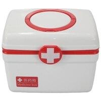 Família medicina kits bin médico primeiros socorros caixa de armazenamento plástico caixa médica lidar com portátil armazenamento medicina coleta caso caixa|  -