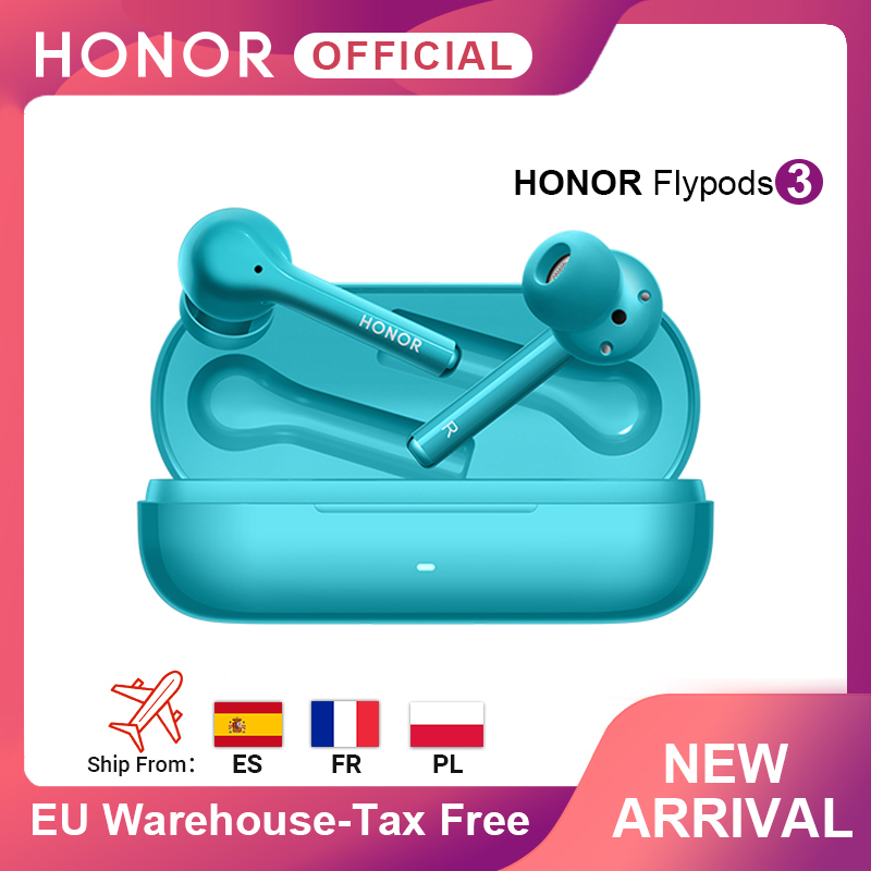 В наличии Honor FlyPods 3 Волшебные наушники беспроводные наушники TWS три микрофона шумоподавление Bluetooth 5,0 сенсорные наушники
