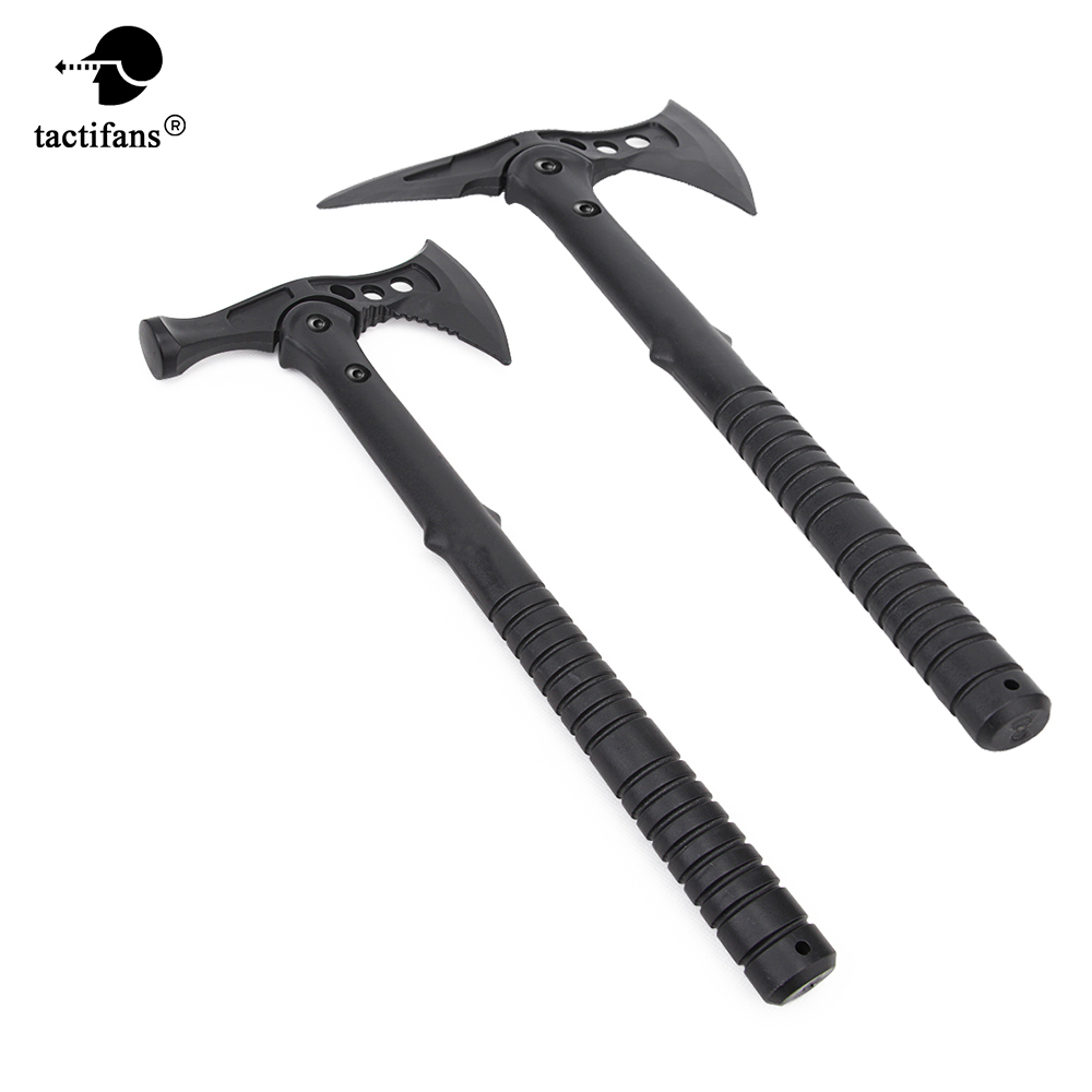 Soft Plastic Dummy Rubber Axe Outdoor Airsoft Paintball Field Cosplay Model Tactical Training Combat Replica With Cordura Case