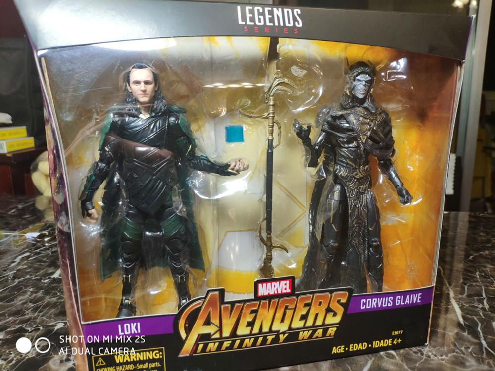 6inch Marvel Legends Loki With Corvus Glaive Action Figure Toy Brinquedos Figurals Collection Model Gift