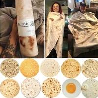 Wostar cobertor de tortilha quente inverno, fashion super macio lavash coberta de lance para cama sofá colcha manta para viagem de avião