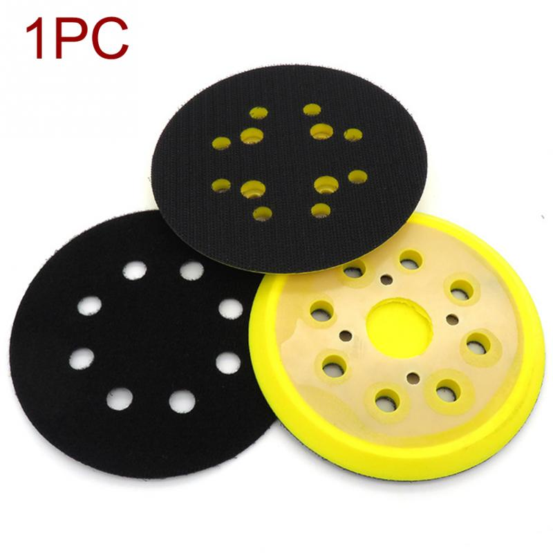 125mm 8 Hole For Electric Grinder Backing Polishing Self Adhesive Wear Resistance Sanding Disc Accessories Sandpaper Plate Pad