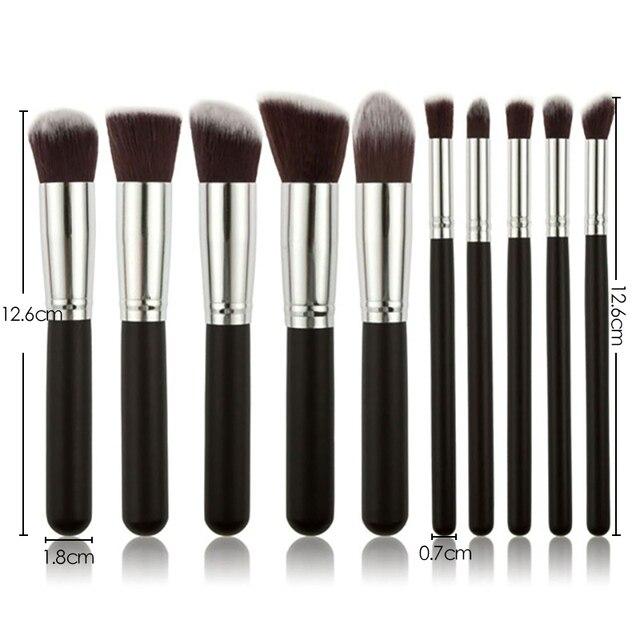 New Makeup Brushes Set Eye Shadow Foundation Powder Eyeliner Eyelash Lip Make Up Brush Cosmetic Beauty Makeup brush Tool Kit Hot 3