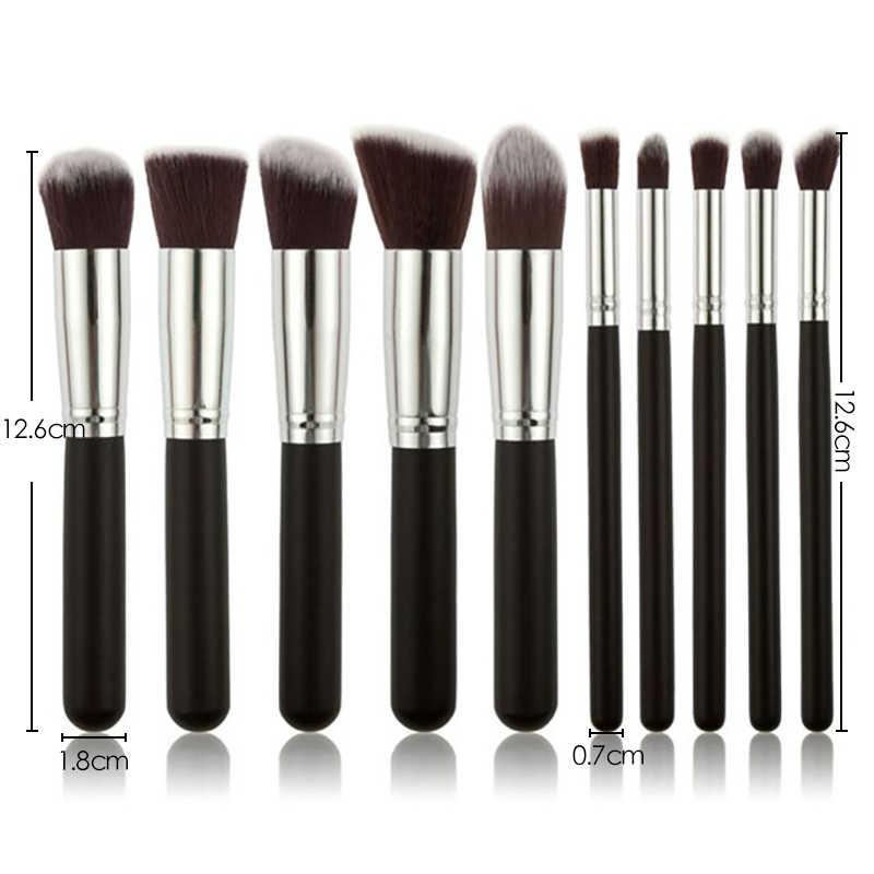Nieuwe make-up kwasten Oogschaduw Foundation poeder Eyeliner Wimper Lip Make-up kwast Cosmetische schoonheid Make-up kwast Tool Kit Heet
