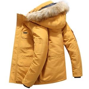 Marca parka jaquetas de inverno dos homens casuais quente grosso com capuz casacos de gola de pele jaqueta puffer masculino à prova de vento casaco plus size 6xl