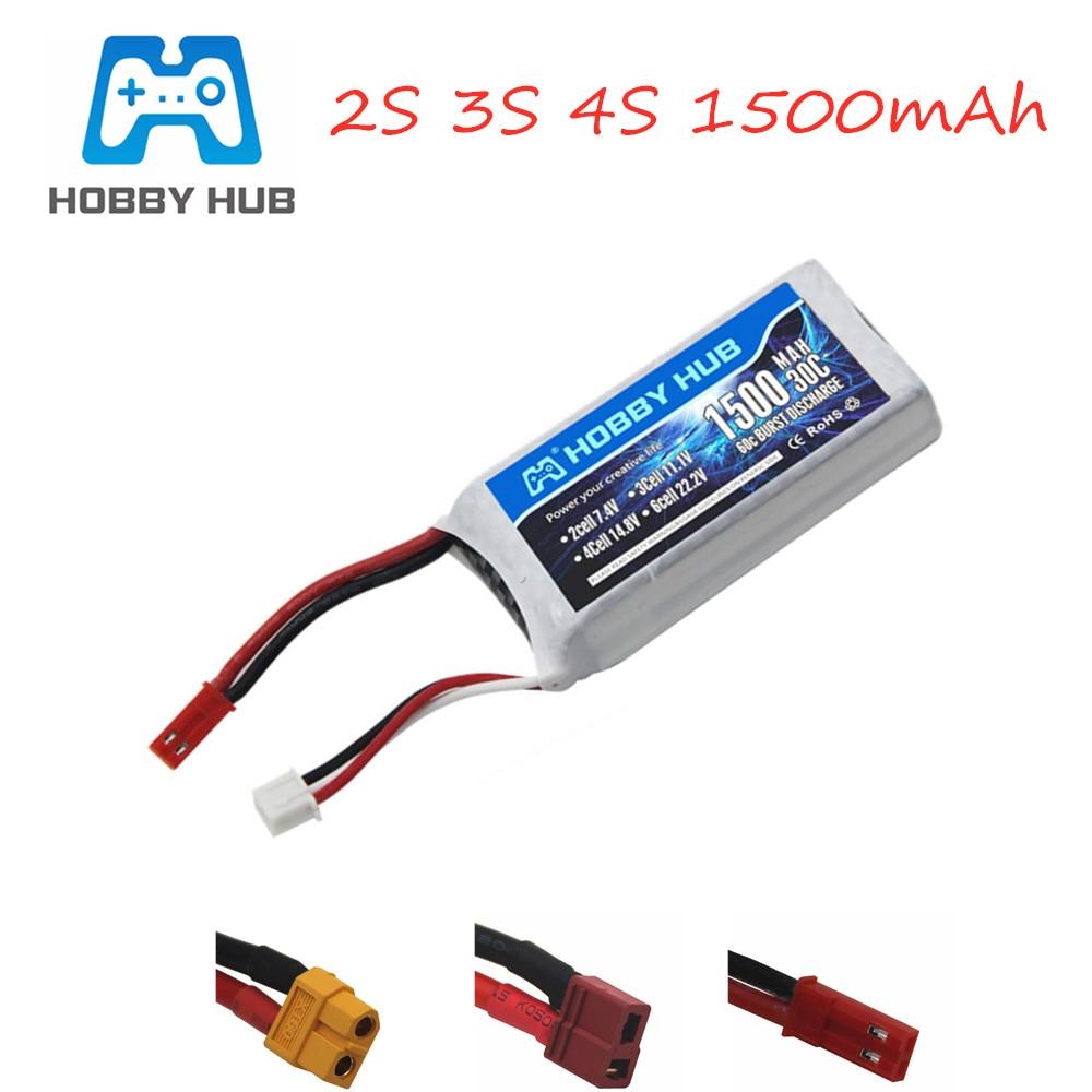 HOBBY HUB 7.4v 11.1V 14.8v 1500mAh 3s Battery For RC Car Airplane Quadcopter Spare Parts 2s Lipo Battery 1pcs 11.1v Battery