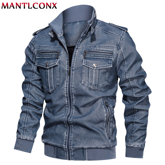 MANTLCONX 2019 Winter New Men's Leather Jackets Autumn Casual Motorcycle PU Jacket Biker Leather Coats Brand Mens Clothing L-6XL