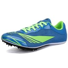 Новинка, спортивные кроссовки для бега, зеленые, оранжевые, с шипами, профессиональная обувь для бега, мужские и женские кроссовки для тренировки ногтей